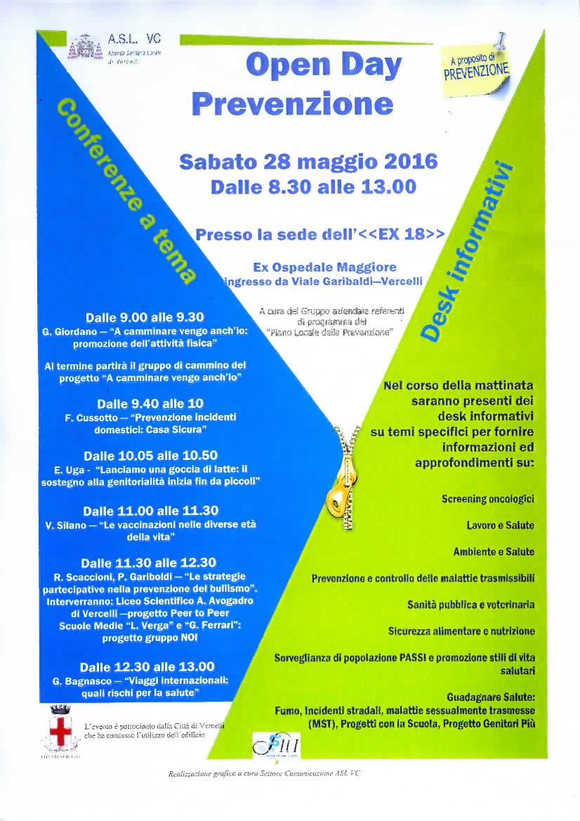 banner Open Day prevenzione